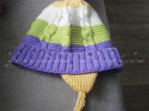 как сделать завязки на детскую шапку