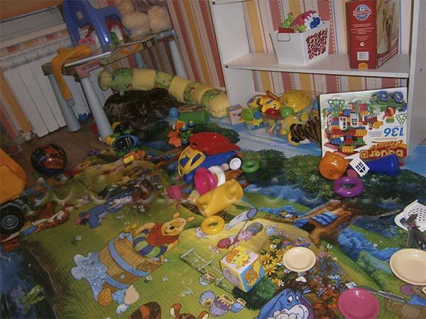 бардак в детской комнате