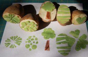 штампы из картофеля