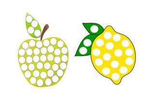лимон и яблоко