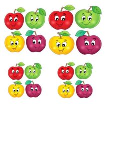 яблочки аппликация