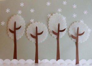 зимние деревья поделка