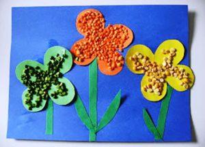цветы из крупы