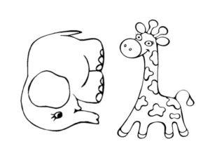 жирафик и слоник