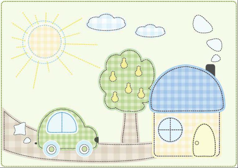 Аппликации из ткани своими руками схемы шаблоны для детей 921