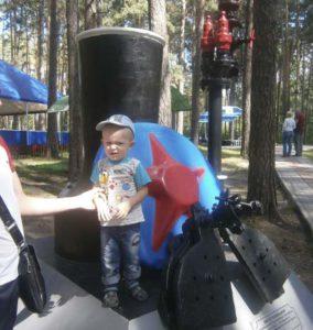 ребенок в парке