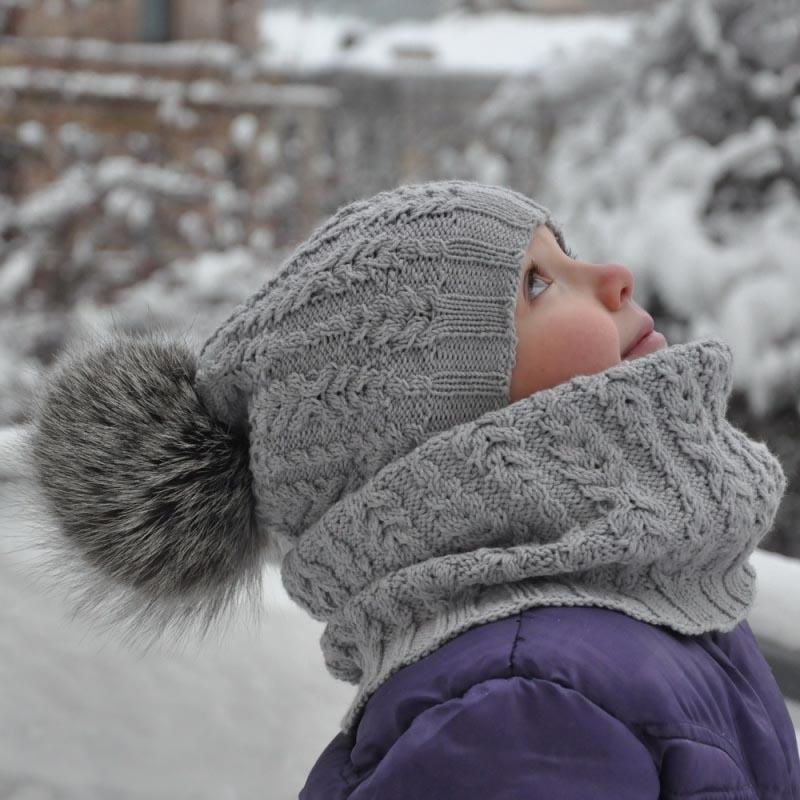 шапка и снуд для ребенка