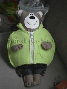 Мишка с одежкам своими руками