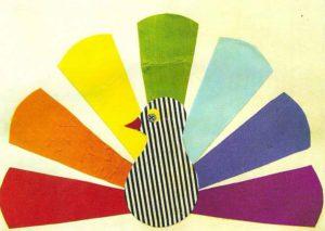 павлин из ткани