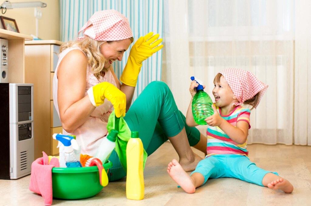 уборка с ребенком