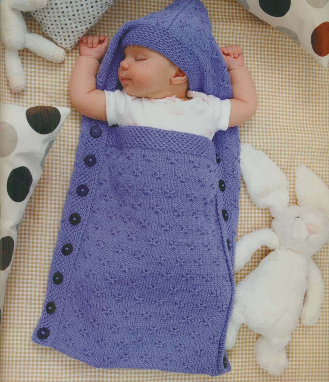 вязаный спальный мешок для младенца
