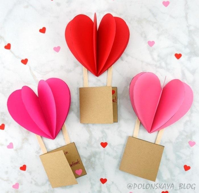 легкие и быстрые поделки из сердечек